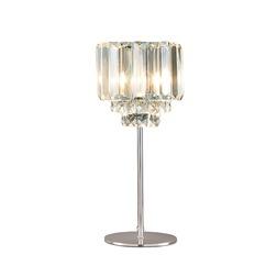 Настольная лампа из металла и стекла VIENNA CLEAR (Chrome)