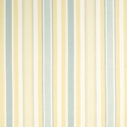 Ткань для штор в полоску желтого голубого и белого цвета AWNING STRIPE (Primrose/ Duck Egg)