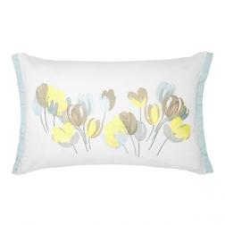 Прямоугольная подушка с вышивкой тюльпанов AVA 40*50 (Duck Egg)