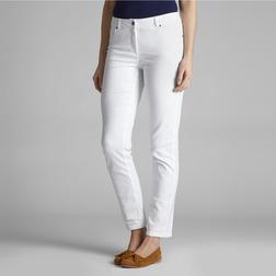 Зауженные джинсы прямого кроя белого цвета TR 038