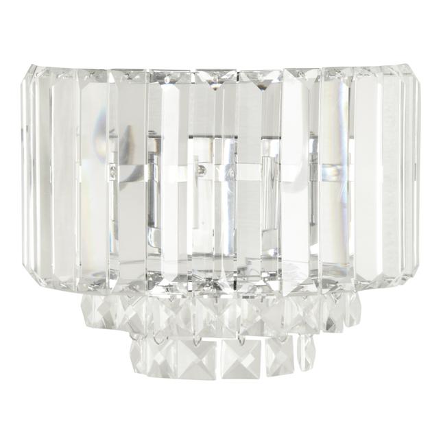 Настенное бра со стеклянными подвесками квадратной формы VIENNA WALL (Clear)