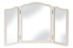 Трехстворчатое зеркало в деревянной раме PROVENCALE DRSSNG TABLE MIRROR 55*80 (Ivory)