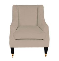 Кресло в серо-бежевой ткани ADDISON 98*74*89 (Band E/Edwin Sable)