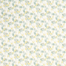 Готовая штора в цветы желтого и голубого цвета AVA pair 200*280 (Duck Egg)