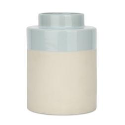 Маленькая керамическая вазочка BROOKE VASE 18*12,5 (Duck Egg)