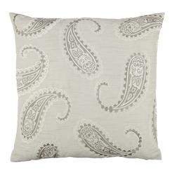 Декоративная подушка квадратной формы с вышивкой EMPEROR PAISLEY 50*50 (Dove Grey)