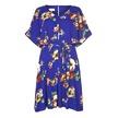 Архивное легкое платье насыщенного синего цвета с цветочным узором MD 264