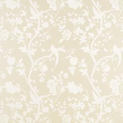 Бумажные обои с светлым рисунком птиц и растительности ORIENTAL GARDEN (Linen)