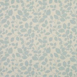 Красивая ткань для штор с голубым растительным рисунком CHESIL (Duck Egg)