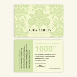 Подарочный сертификат на 1000 грн от LAURA ASHLEY