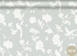 Бумажные обои серого цвета с силуэтным узором FARLEIGH (Dove Grey)