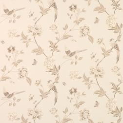 Бумажные обои с рисунком птиц и растительности бежево-коричневого цвета ELVEDEN (Truffle)