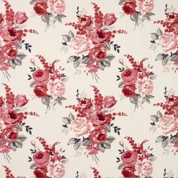 Гардинная ткань в цветы Chiswick (Cranberry)