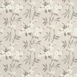 Красивые бумажные обои светло-серого цвета с цветочным рисунком CALISSA (Marble)