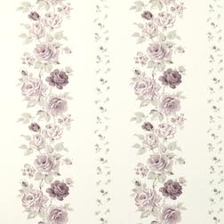 Бумажные обои в красивые цветы розы фиолетового цвета CLARISSA (Amethyst)