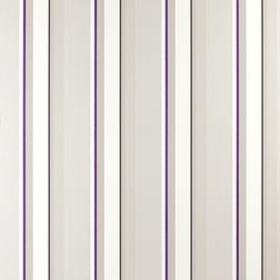 Бумажные обои в вертикальную полоску фиолетового цвета EATON STRIPE (Violet)