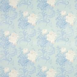 Роскошная ткань для штор с крупным цветочным рисунком ROSE HILL (Duck Egg)