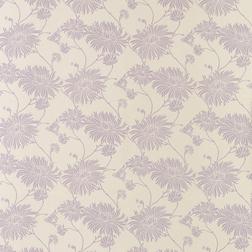 Обои для стен из тонкой бумаги с рисунком цветов хризантемы светло-фиолетового цвета KIMONO (Amethys