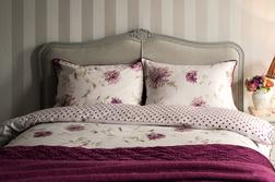 Набор постели с одинарным пододеяльником в крупные цветы NINETTE SG 137*200, 50*75 set of-1 (Pink)