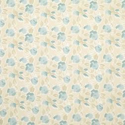 Хлопковая ткань в голубые цветы розы EMMA (Duck Egg)