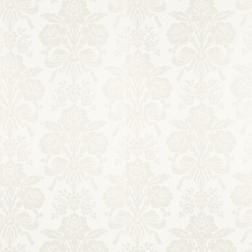 Бумажные обои белого цвета с крупным цветочным рисунком TATTON (White)