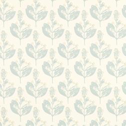 Бумажные обои с небольшим цветочным рисунком голубого цвета CHILTERN (Duck Egg)