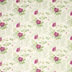 Ткань для штор украшена цветами фиалки ELLA BERRY (Berry)