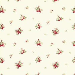 Ткань для штор из чистого хлопка STRAWBERRIES (Cranberry)