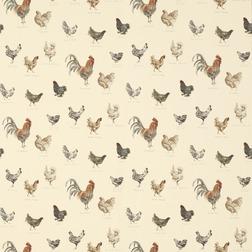 Красивые обои с изображением домашних птиц BRANSCOMBE (Linen)
