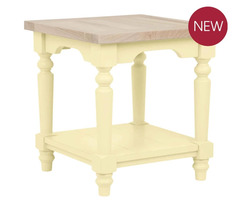 Маленькая тумбочка нежно-желтого цвета DORSET SIDE TABLE 49*45*45 (Camomile)