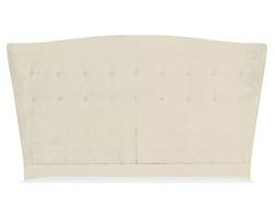 Изголовье для кровати в бархатной ткани белого цвета ASHDOWN 6FT 99*218*209 (BAND E/Caitlyn Off Whit