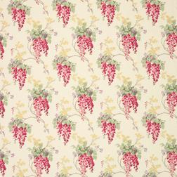 Ткань для штор в яркие цветы WISTERIA (Cranberry)