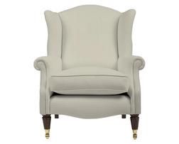 Удобное английское кресло в бежевой ткани SOUTHWOLD 101*82*93 (BAND C/Miller Dove Grey)