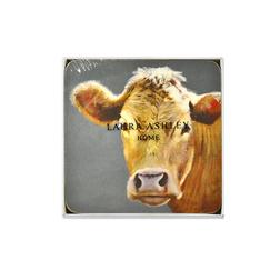 Набор подставок под чашку с изображением коровы ANIMAL SET OF 4  COASTERS 10,5*10,5 (Multi)