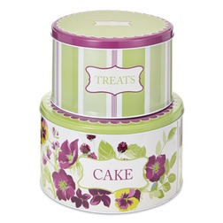 Набор металлический коробок PARMA SET OF 2 CAKE TINS 10*22, 14*25 (Multi)