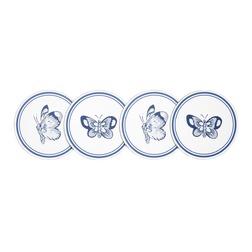 Набор круглых подставок под чашки SUMMER PALACE SET OF 4 COASTERS 0,5*9 (Royal Blue)