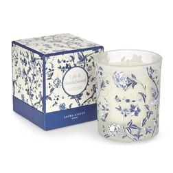Ароматическая свеча с ароматом лилии и сандалового дерева LILY & SANDALWOOD 10,5*8,5*8,5 (Blue)