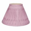 Абажур светло-розового цвета в двойную складку 10 FENN (Cyclamen)