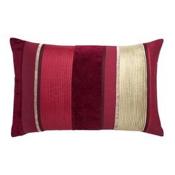 Прямоугольная декоративная подушка в вертикальную полоску красного цвета CATALINA 40*60 (Cranberry)