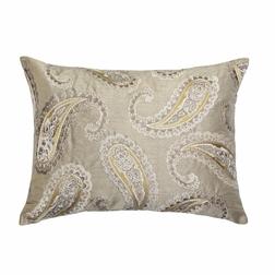 Роскошная подушка темно-бежевого цвета с вышивкой EMPEROR 40*50 (Truffle)