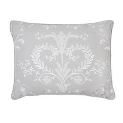 Серая декоративная подушка с белой вышивкой JOSETTE 40*50 (Dove Grey)