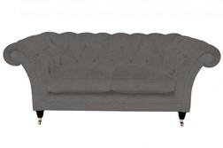 Роскошный диван в мягкой ткани серого цвета HUDSON 2ST 75*187*97 (BAND D/Dalton French Grey)