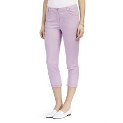 Хлопковые джинсы капри лилового цвета TR 826