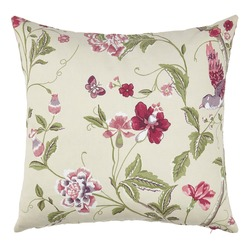 Квадратная декоративная подушка с ярким принтом SUMMER PALACE 50*50 (Cranberry)