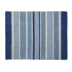Маленький полосатый ковер в голубых и синих оттенках BEXLEY STRIPE 90*120 (Blue)
