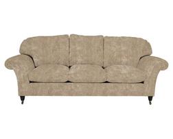 Большой диван в плюшевой ткани бежевого цвета MORTIMER GRANDE 102*249*96 (BAND E/Сaitlyn Sable)