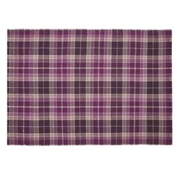 Шерстяной ковер в клетку бордового цвета MULHOLLAND 170*240 (Berry)