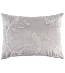 Декоративная подушка прямоугольной формы с вышивкой птиц FARLEIGH 30*40 (Dove Grey)