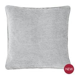 Декоративная подушка светло-серого цвета CHENILLE 50*50 (Dove Grey)