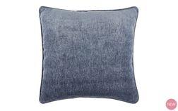Декоративная подушка темно-синего цвета CHENILLE 50*50 (Dark Seaspray)